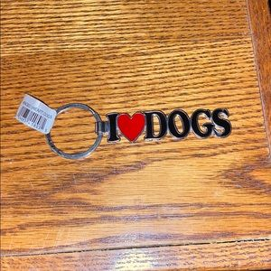 Other - I (HEART) DOGS key chain